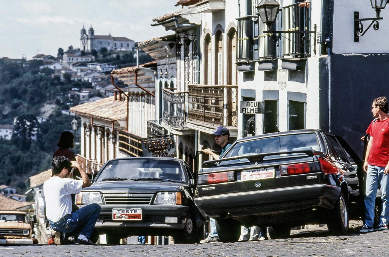 Em Ouro Preto (MG), uma foto para o álbum de recordações