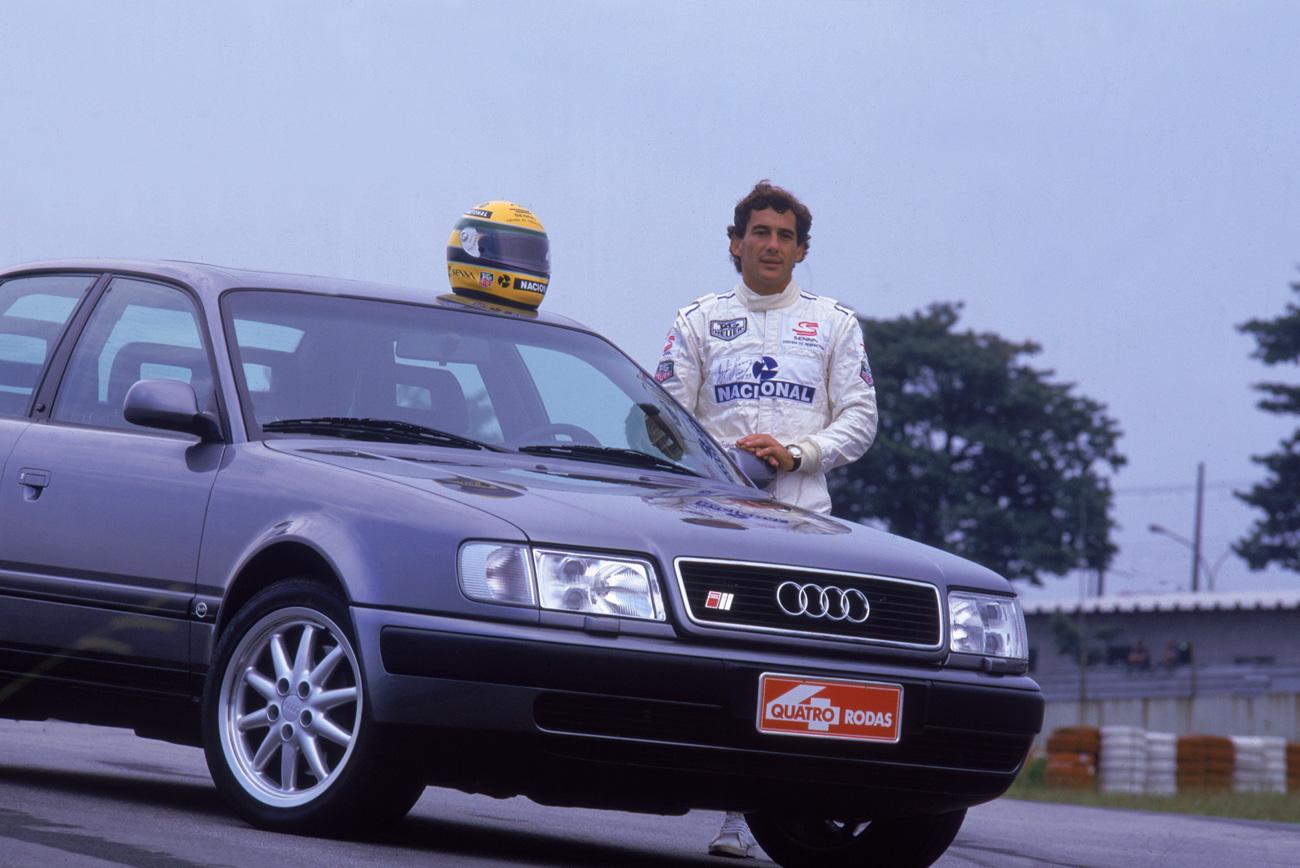 Ayrton Senna testando o Audi S4