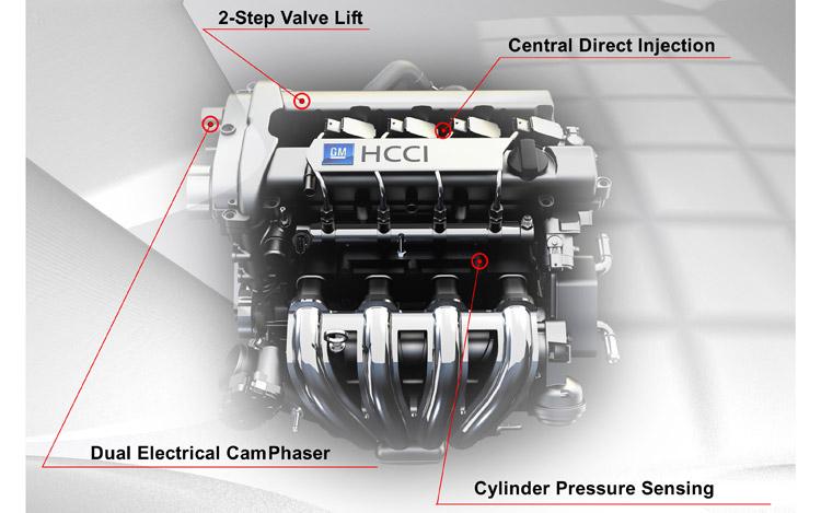 Motor 2.2 Ecotec da GM que chegou a ser testado com HCCI. Durou de 2007 a 2009