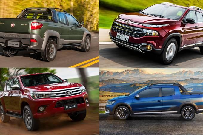 Fiat Strada, Fiat Toro, Toyota Hilux e VW Saveiro