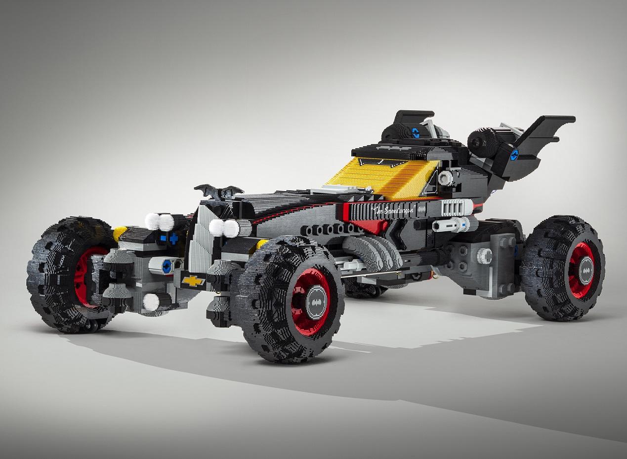 Batmóvel de Lego na posição 3x4 de frente