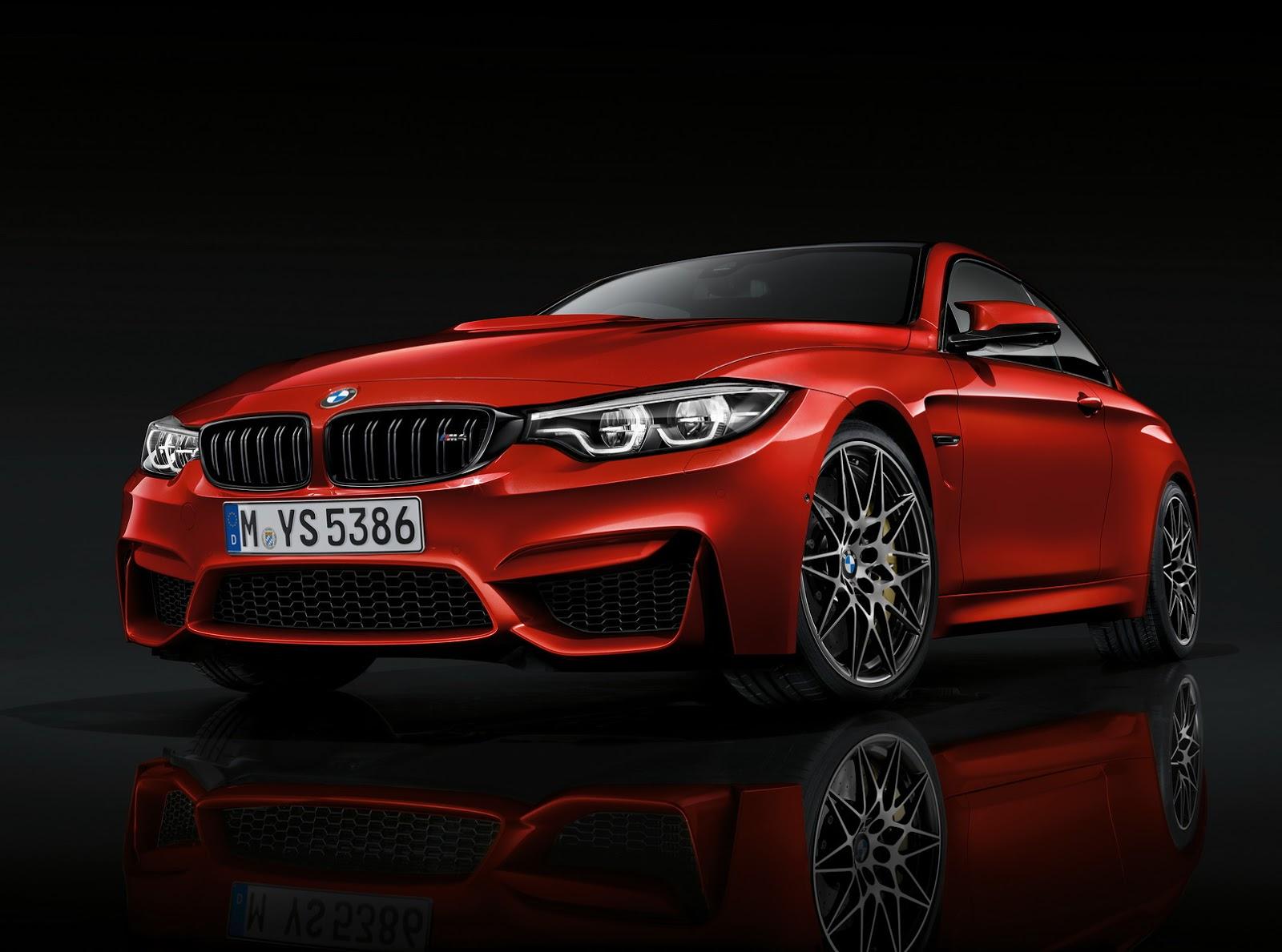 BMW M4 na posição 3x4 de frente