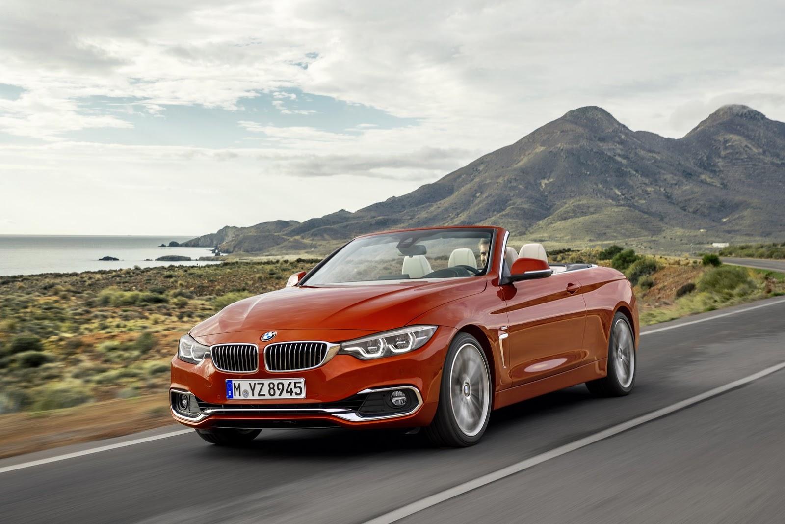 BMW Série 4 Cabrio na posição 3x4 de frente