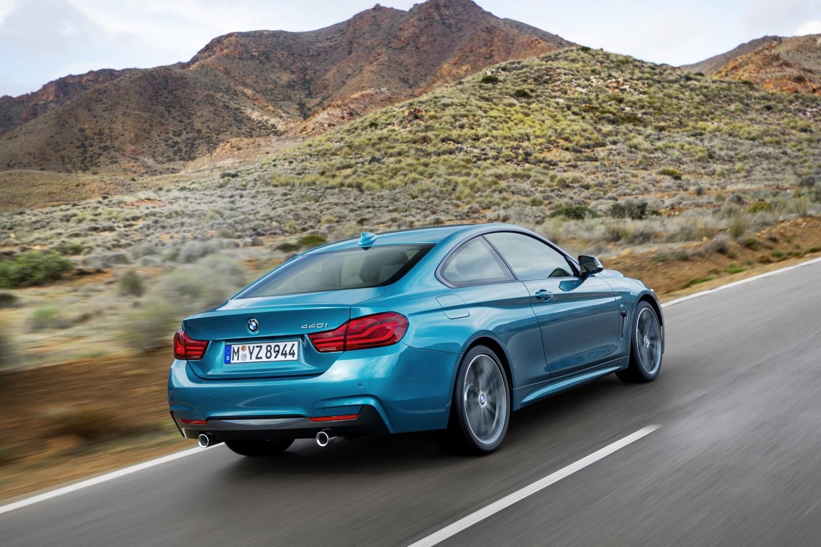 BMW Série 4 Coupé na posição 3x4 de traseira