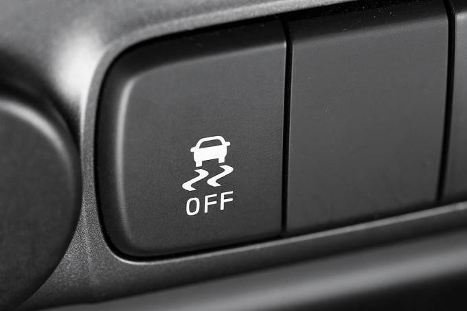Botão do controle de estabilidade da Chevrolet S10