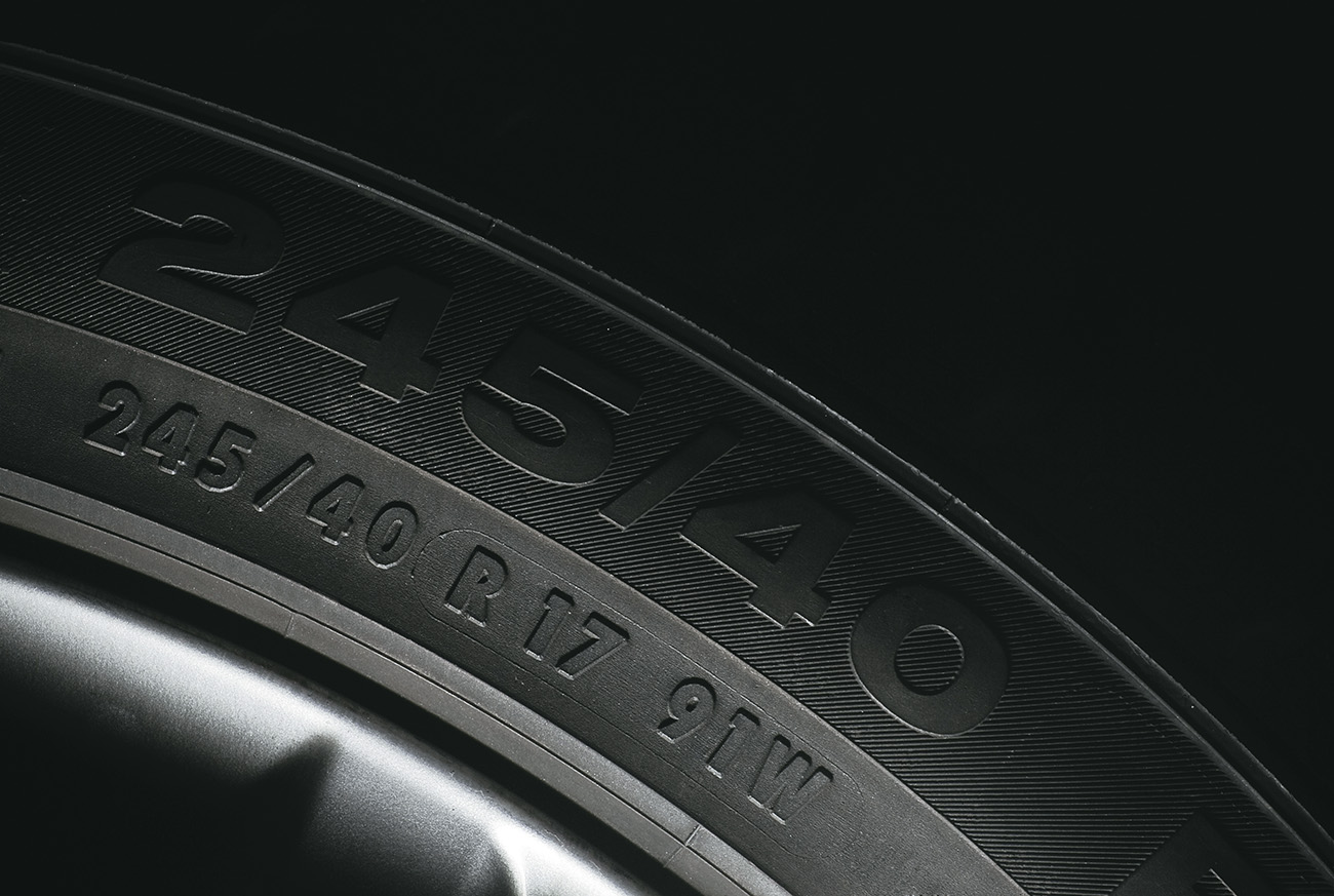 Lateral de um pneu