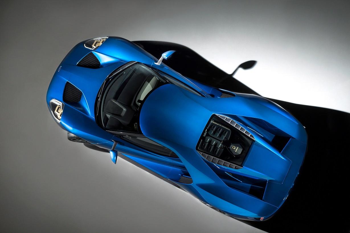 Ford GT visto de cima
