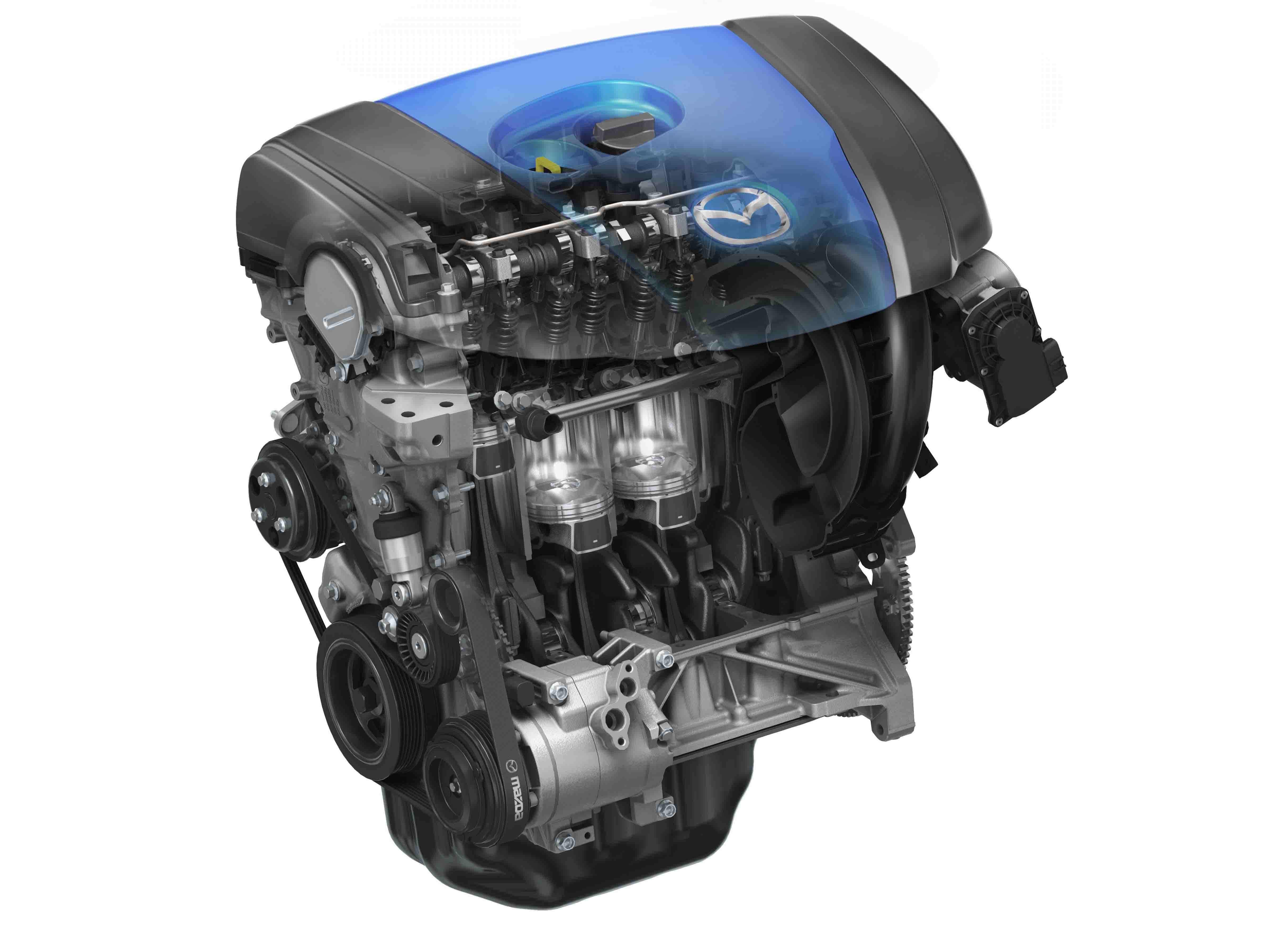 Os atuais motores Mazda SKYACTIV já se destacam pela eficiência