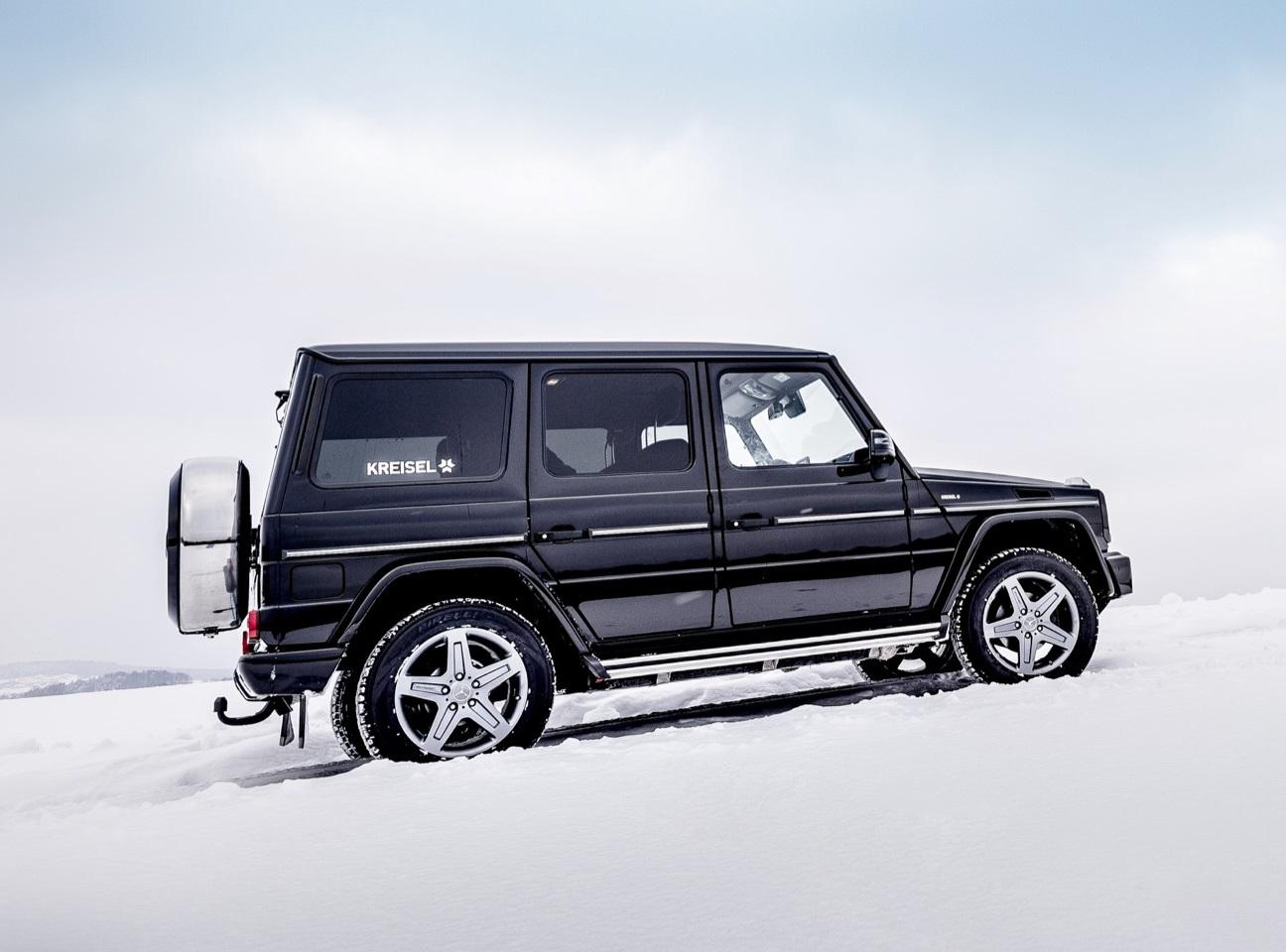 Mercedes-Benz Classe G elétrico de perfil