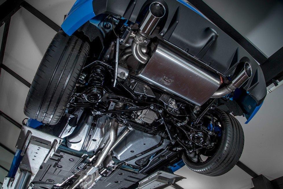 Parte inferior de um Ford Focus RS