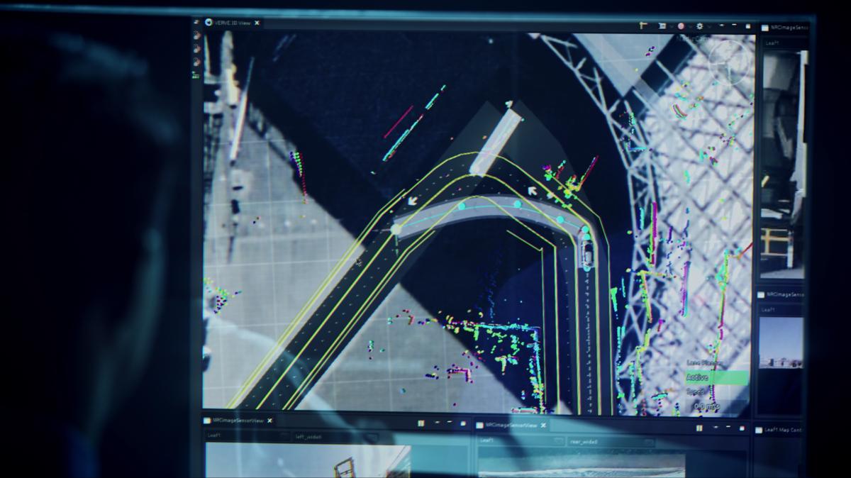 Operador humano identifica uma situação inesperada e traça uma rota para o veículo seguir