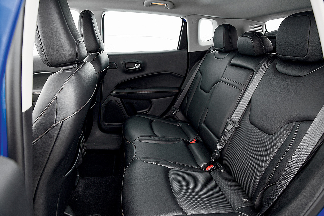 Banco traseiro do Jeep é mais confortável
