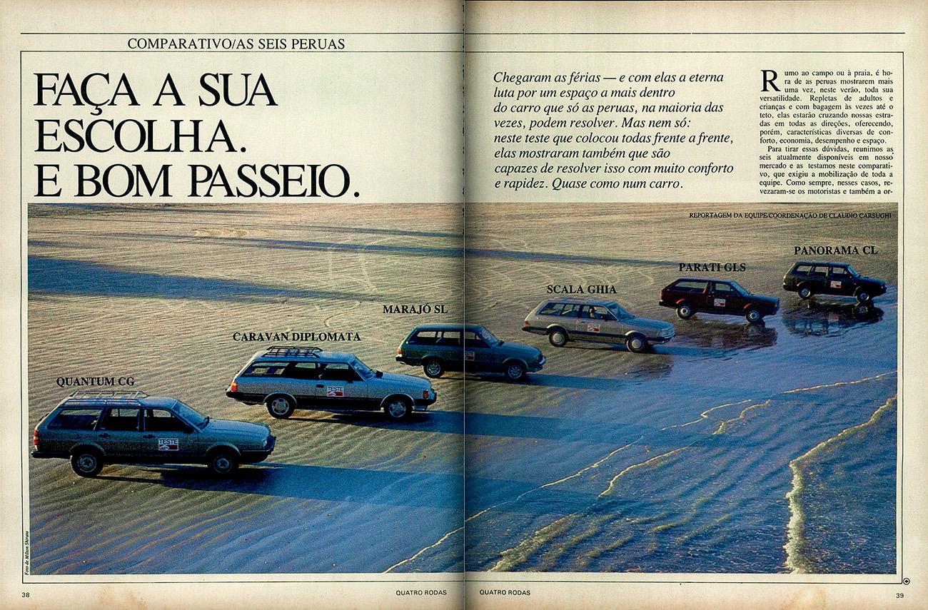 Abertura da matéria publicada em dezembro de 1985