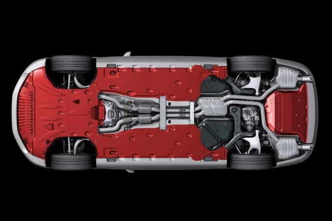 Visão inferior do Audi A8
