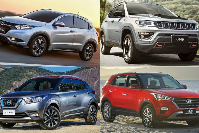 HR-V, Compass, Kicks e Creta