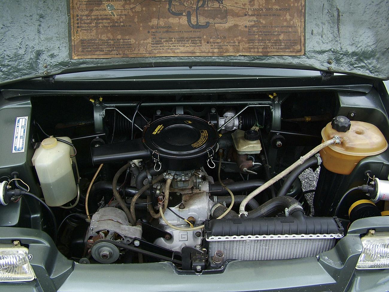 Motor de dois cilindros refrigerado a água tinha 36 cv