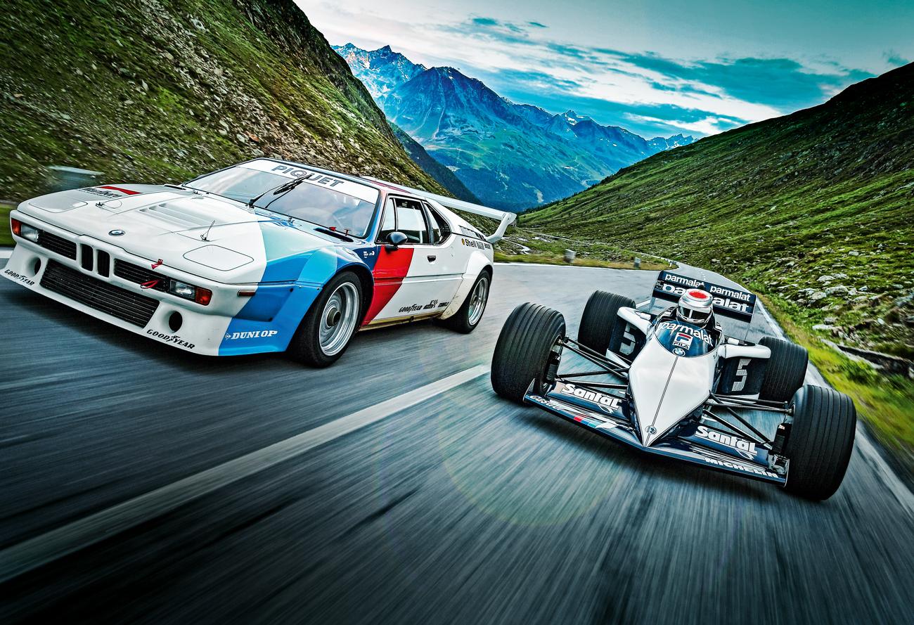 O BMW M1 na cola do Brabham campão da F-1
