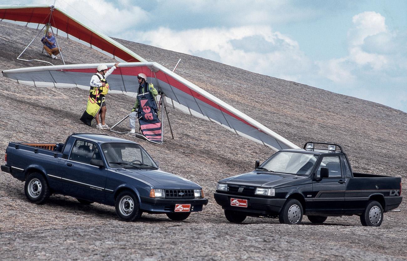 A Fiorino superava a Chevy no tamanho da caçamba
