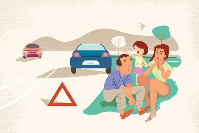 Auto-serviço: emergência na parada