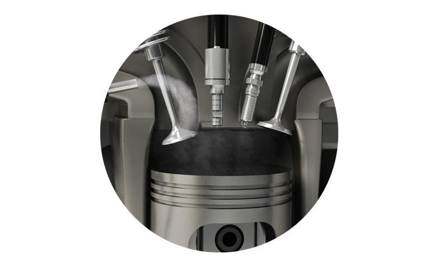 A quantidade de água injetada na câmara de combustão é tão pequena que 5 litros de água destilada são suficientes para rodar até 3.000 km