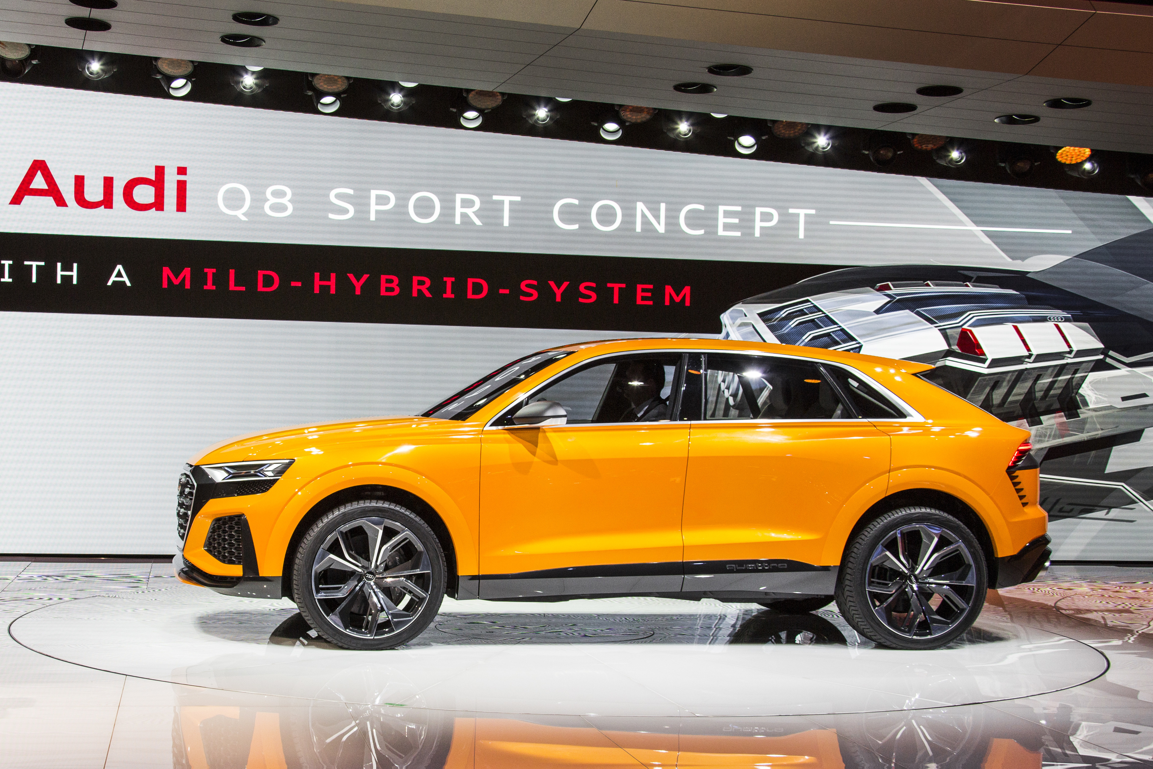 Prof. Rupert Stadler (Chairman of the Board of Management of AUDI AG); next to the new Audi Q8 sport concept on the Geneva Motorshow 2017.