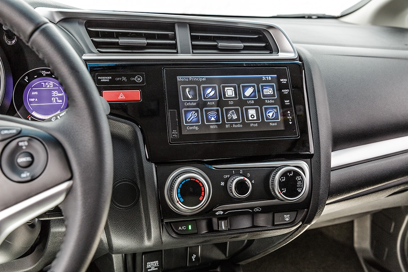 A central multimídia com GPS será exclusiva da versão EXL