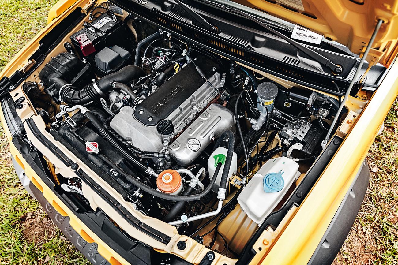 Motor 1.3 a gasolina do Jimny acelerou de 0 a 100 km/h em 14,6 segundos