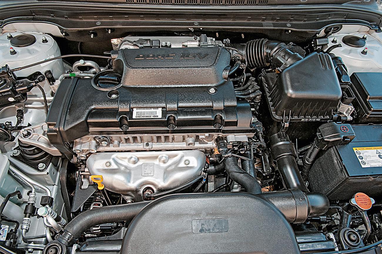 O motor 2.0 de 145 cv e 19 mkgf garante bom desempenho