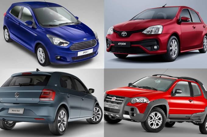 Carros brasileiros para exportação