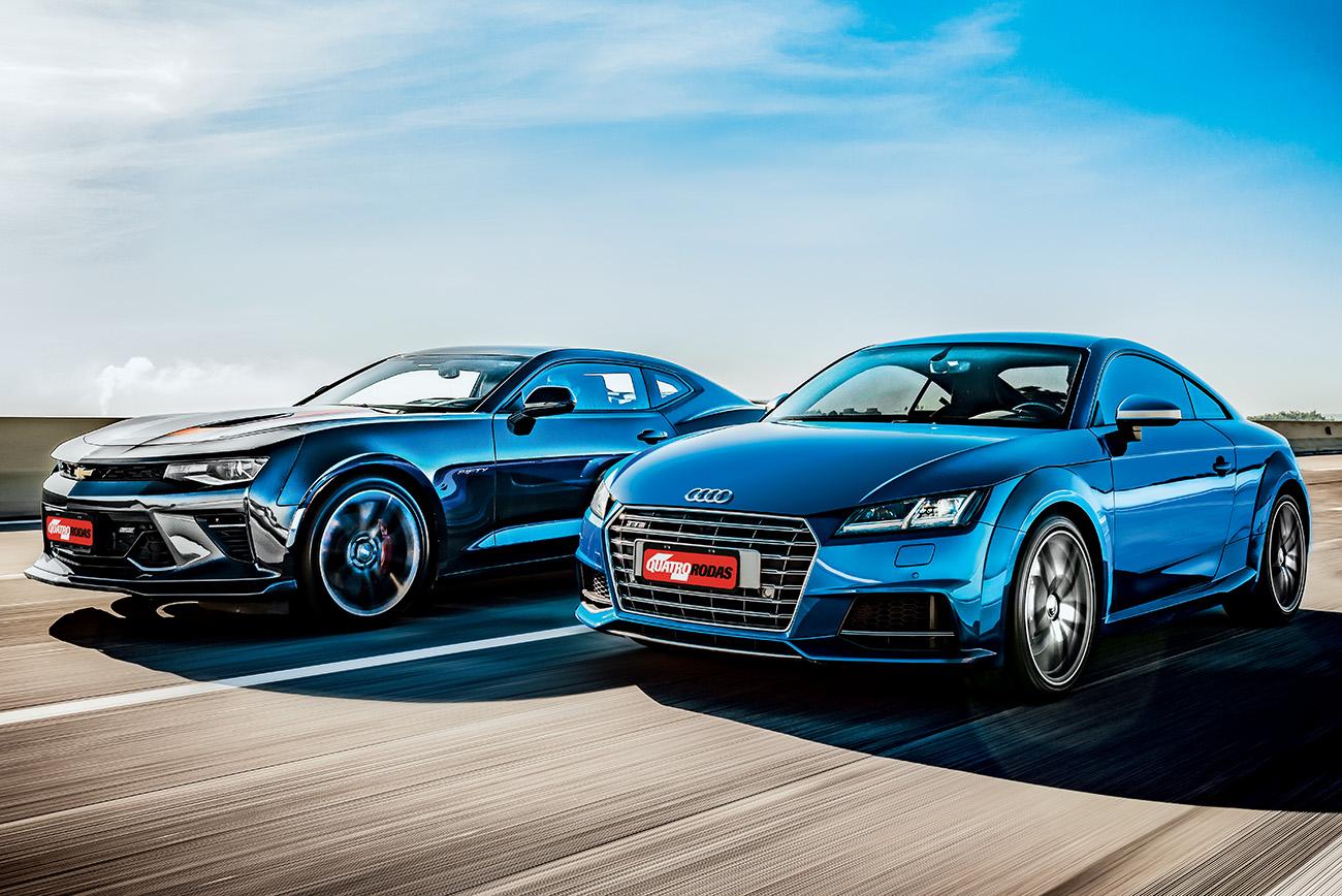 Por cerca de R$ 300 mil, Audi e Chevrolet oferecem maneiras distintas para leva você de 0 a 100 km/h em 5 s