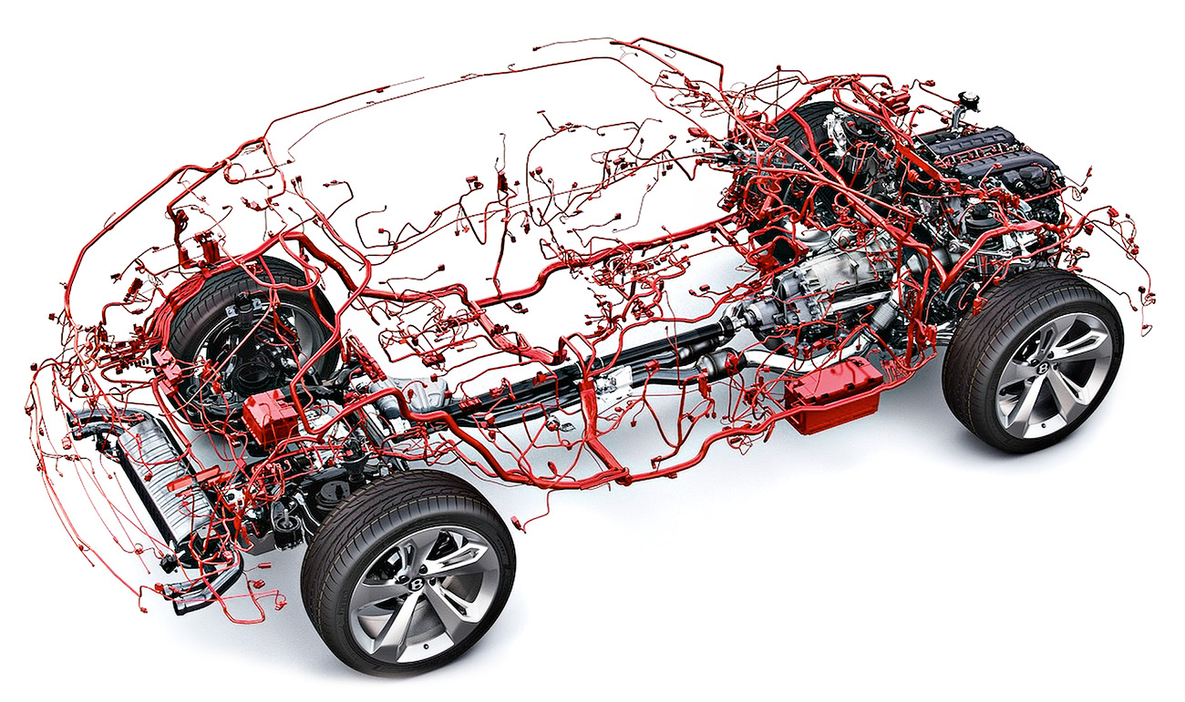 Bentley Bentayga: quilômetros de fios