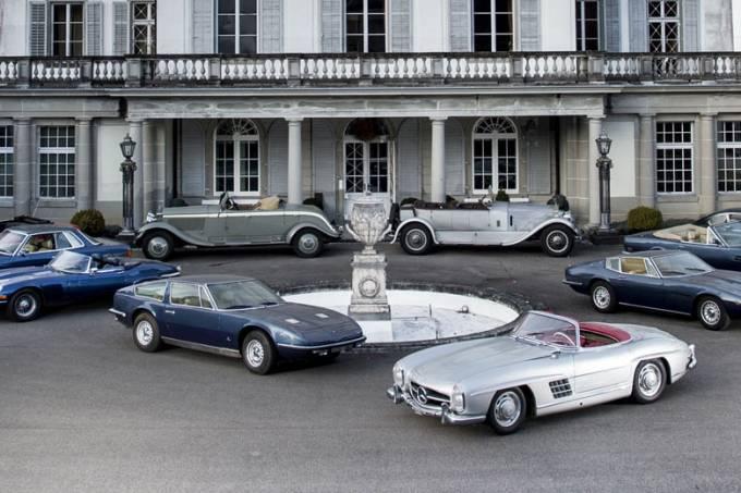 Coleção de carros clássicos de palácio suíço (2)