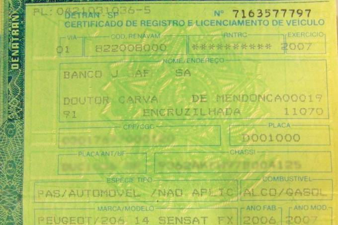 Documento CRLV digital