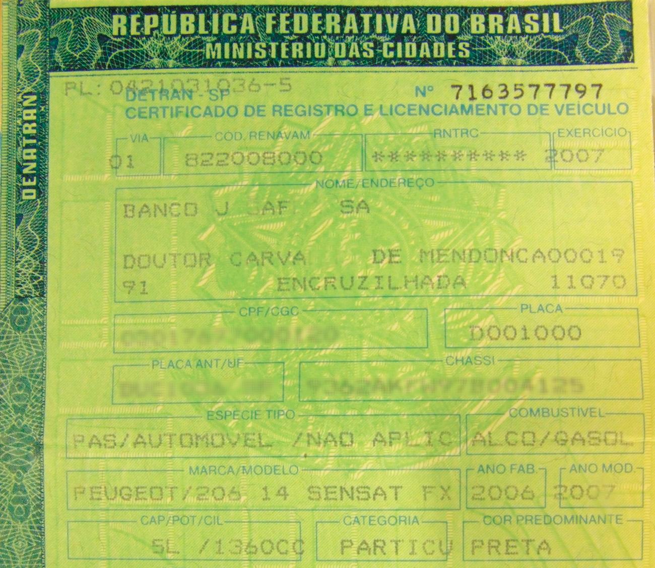 Documento CRLV