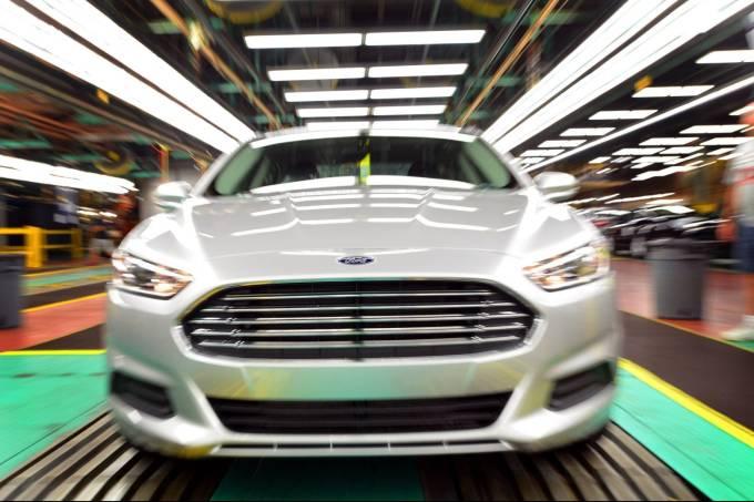 Linha de montagem do Ford Fusion