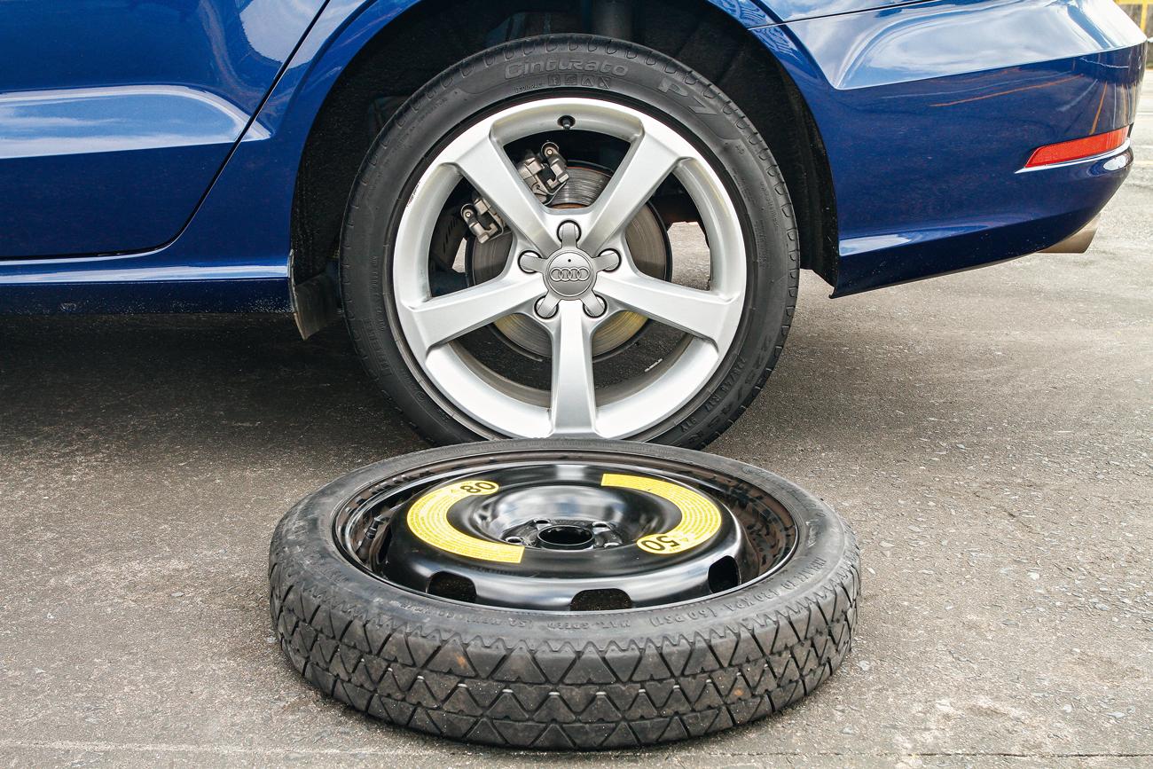 A3: roda = 19,1 kg / estepe = 14,6 kg