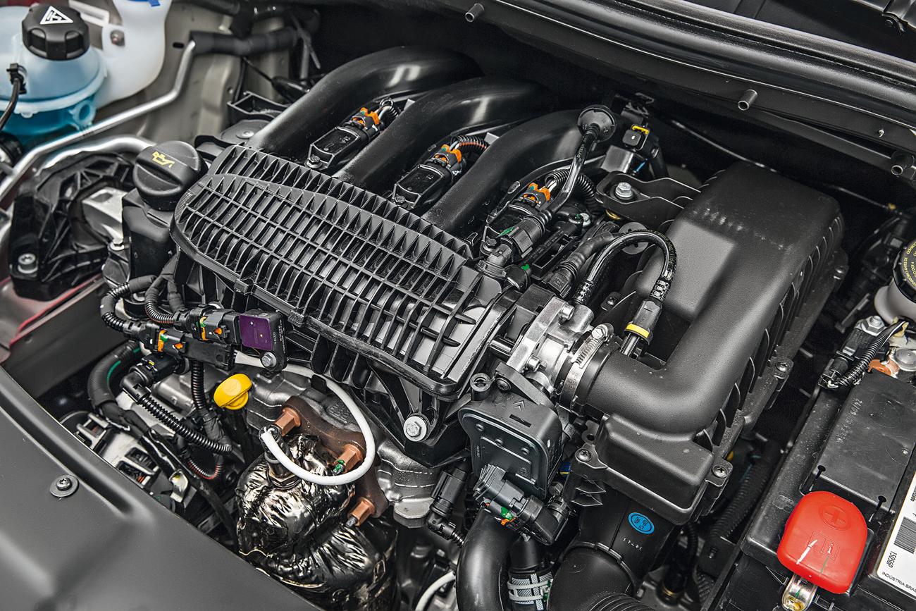 Motor 1.2 vibra pouco para um tricilíndrico, mas peca pela falta de fôlego