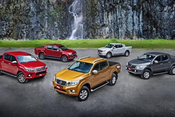 Nissan Frontier x Toyota Hilux x Chevrolet S10 x Ford Ranger x Mitsubishi L200