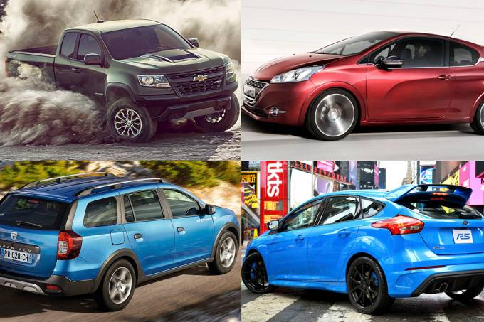 Colorado ZR2, Peugeot 308 GTi, perua Logan e Focus RS