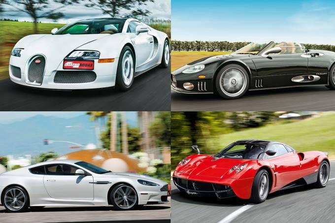 Bugatti Veyron, Spyker, Aston Martin e Pagani