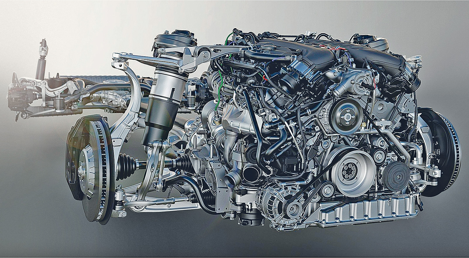 O motor V8 4.0 triturbo do Bentley Bentayga