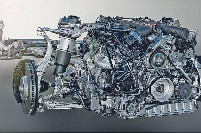 Motor V8 4.0 triturbo do Bentley Bentayga