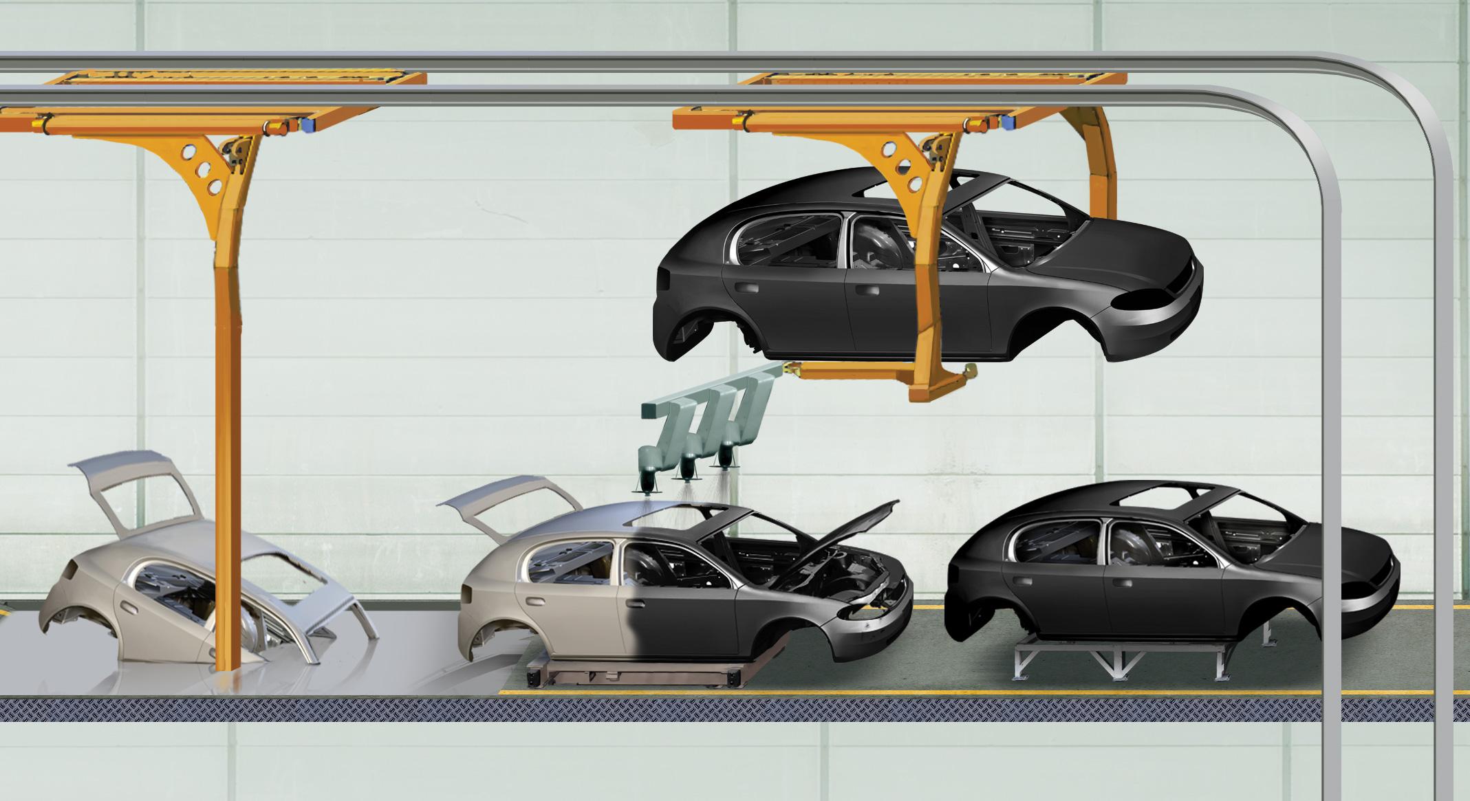 Como funciona uma linha de montagem de automóveis?