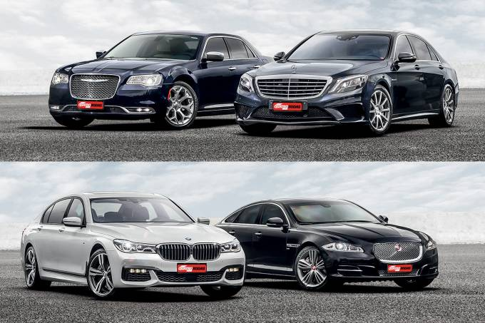Chrysler 300C, Jaguar XJ, BMW 750Li e Mercedes-AMG S 63