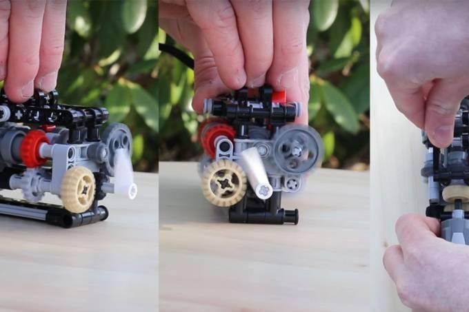 Câmbio de 6 marchas de Lego