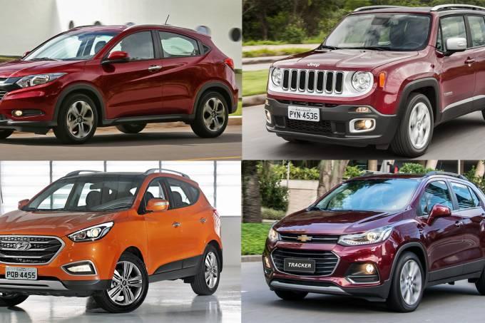 Honda HR-V, Jeep Renegade, Chevrolet Tracker, Hyundai ix35