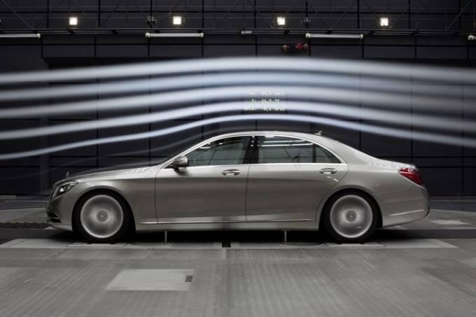 túnel de vento da Mercedes-Benz