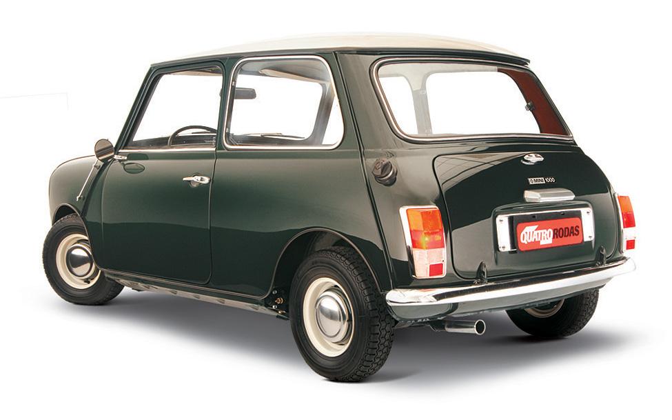 Neste Mini 1000 ano 1969, a lanterna perdeu o arredondado dos primeiros modelos
