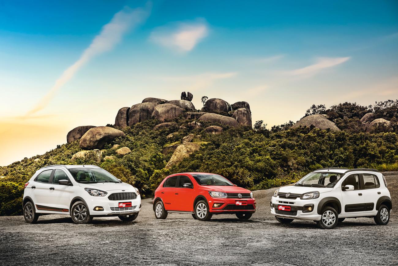Neste trio, a aptidão off-road varia muito de um carro para o outro