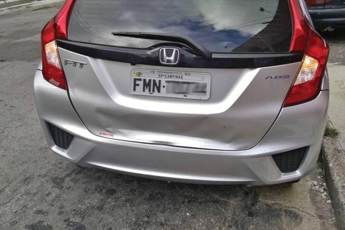 Honda Fit amassado